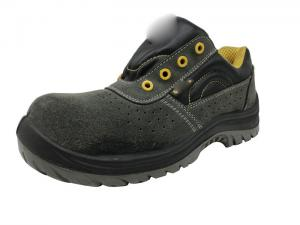 China Water Resistance Black Work Shoes Environmental Shockproof Crazy Horse Leather on sale
