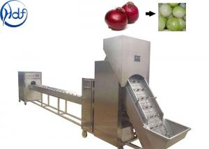China 1.5kw Power Onion Peeling Machine , Onion Processing Machine With Cutter on sale