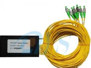 China 1x16 PLC Optical Fiber Splitter Low Insertion Loss With 1260nm - 1650nm Wavelength on sale