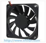70*70*10mm 12V/24V DC Black Plastic Brushless Cooling Fan DC7010
