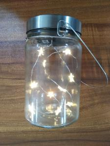 China Warm White Solar Lantern Lamp Solar Glass Jar Led Light IP44 For Patio on sale