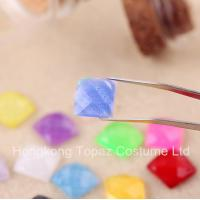 2015 Latest Glitter rhinestone Flat back resin crystal stone neon color stone