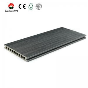 China Sunshien WPC WPC decking contruction material upgrading PVC decking flooring with FSC on sale
