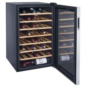 China 45 Bottles 128L Wine Cooler Single Zone (compressor Wine Cellar) on sale