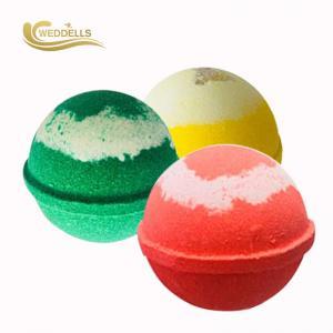 China Personalized 140g Large Custom Bath Bombs Sweet , Lemon , Rose Fragrance on sale