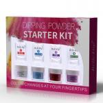 French and gradient effect dip powder nail kit base coat top coat liquids organic nail dipping powder