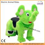 Happy Rider Toys, Coin Operated Plush Motorcycle, Electric Animal Toy, Animal Rides