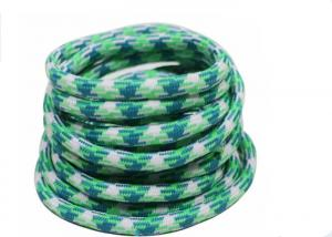 China 100% Polyester Elastic Cord String Colorful Braided Rope Logo Printed on sale