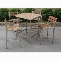 China Fashionable bar table set, easy to assemble, lightweight aluminum tube, 1.7/1.8mm frame th on sale