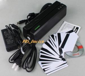 China Wholesales high 3TrackS MSR605 Magnetic Stripe Card Reader Writer Swipe Credit & Debit Card MSRE606 with 20 blank Cards on sale