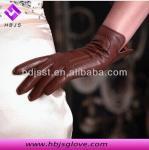 guantes de cuero de la zalea de las mujeres del fashional