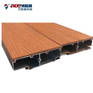 China PP PE PVC Plastic Wood Composites Profile Making Machine WPC Railing Decking Board Door Frame on sale