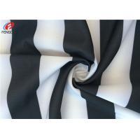 China Stripe Printing Waterproof 4 Way Stretch 85 % Polyester 15 % Spandex For Bikini on sale