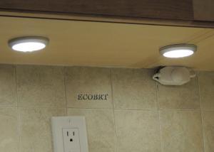 China Round Kitchen LED Cabinet Lights / Puck Light kits12V Surface Mounting on sale
