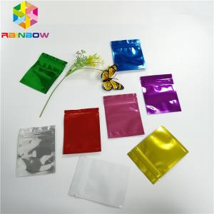 China Three Side Seal Foil Pouch Packaging Metalized Resealable Zipper For Tea / Milk Powder on sale