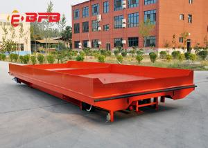 China Heavy duty material handling motorized 10 ton battery powered electric rail transfer cart on sale