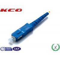 Single Mode Fiber Optic Accessories , SC Fiber Optic  Connector Pre Assemly