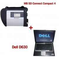 MB SD Connect Compact 4 Star Diagnosis 2017.12V Software Version Plus Dell D630 Laptop