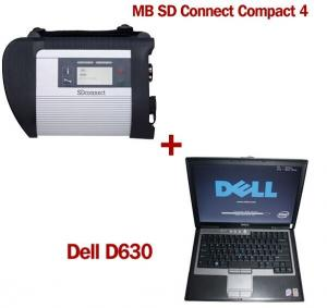 China MB SD Connect Compact 4 Star Diagnosis 2018.5V Software Version Plus Dell D630 Laptop on sale