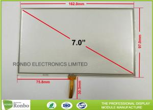China 7.0 Inch 4 Wire RTP Resistive Touch Panel 1.2mm Thickness High Accuracy on sale