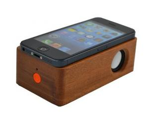 China with AA battery wirelss wooden mini portable magic induction speaker on sale