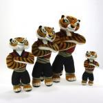 Bichos de pelúcia bonitos dos desenhos animados do tigre fêmea da panda de Kungfu para presentes da promoção