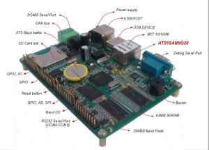 China AT91SAM9G20 ARM9 Single Board Computer Support 7 serial, 1 net, CAN  2.0, RS48, USB Host/Device, GPIO on sale