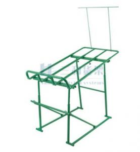 China Metal Frame Shelf Green Paint Fruit and Vegetable Rack Display Stands for Supermarket on sale