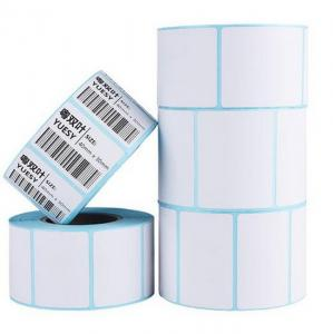 China ISO Blue Glassine Paper 50G Direct Thermal Barcode Labels on sale