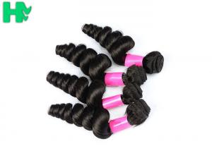 China Brazilian Human Hair Loose Wave Virgin Human Hair Weft / Extension For Black Women on sale