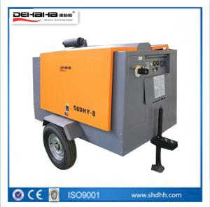 China Diesel Engine Portable Screw Air Compressors Save Electricity Portable Movable Convenient to use on sale