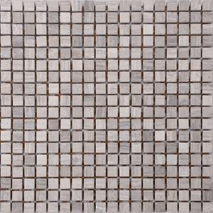 China Wood Grain Stone Mosaic Bathroom Sink Splashback Tiles , Bathroom Countertop Tile Morden Design on sale
