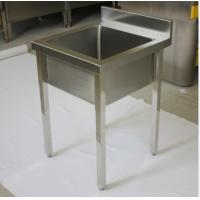 Outdoor Waterproof Square Commercial Stainless Steel Sinks With Drainboard