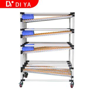 China Roller FIFO Storage Racks DY51 For Lean Pipe System / Pipe Rack Storage on sale