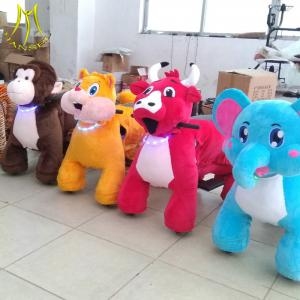 China Hansel  indoor game ride plush animal walking robot ride zippy pets ride toy elephant on sale