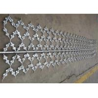 China Custom Hot Dipped Galvanized Welded Barbed Wire Mesh Protection Fence Panel on sale