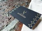 Black Cardboard Gold Foil Stamped Business Cards Printed Visiting Name Cards