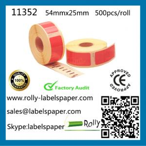 China Dymo 11352 Compatible labels,54mm*25mm,500pcs per roll,7 colors S0722430,dymo labels,label on sale