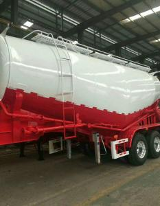 China Carbon Steel Semi Truck Trailer / Powder Material Semi Flatbed Trailers on sale