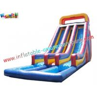 Custom SUMMER Amusement Park Outdoor Adult Water Inflatable Slide 14L x 5.5W x 7H Meter
