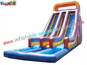 China Custom SUMMER Amusement Park Outdoor Adult Water Inflatable Slide 14L x 5.5W x 7H Meter on sale