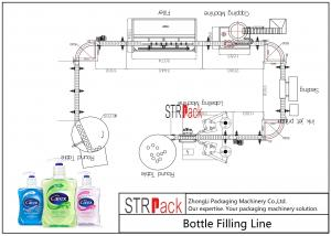 China High Auto Shampoo Filling Line , Hand Wash Viscous Liquid Filling Machine on sale