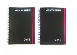 China Custom Spiral Notebook Printing , Notepad Printing Services Black On White Color on sale