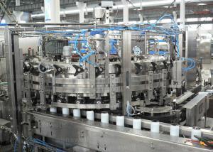 China 自動炭酸水・、ジュースの破裂音の缶、液体満ちる装置のアルミ缶の充填機 on sale