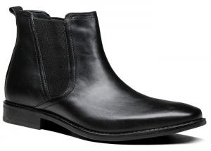 China Classical Mens Black Dress Boots , Autumn / Spring Mens Casual Leather Boots on sale