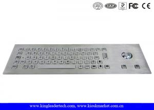 China Impermeabilice el teclado industrial del metal de 64 llaves del acero inoxidable con el Trackball on sale