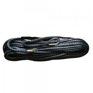 China 10mm X 30m Floating Synthetic Atv Winch Line Grey With Locking Eye Splice supplier