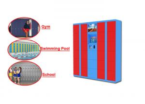 China 24 Hours Rental Baggage Locker With Touch Screen , Storage Electronic Lockers For Airport on sale