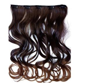 China Silky Korea Clip In Synthetic Hair Extensions Heat Resistant Natural Looking on sale