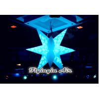 China Inflatable Decor Hanging Star with LED Light for Meeting and Concert Decoration on sale